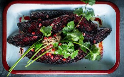 Grilled beets with Miso butter